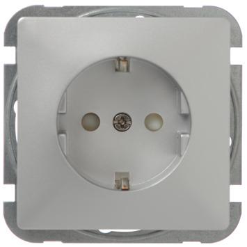 GAMMA Everest Enkel Geaard Stopcontact Aluminium
