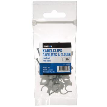 HANDSON kabelclip rond wit 9mm (25 stuks)