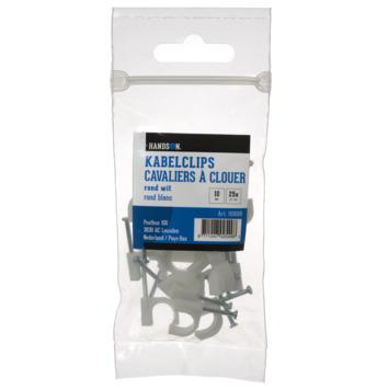 HANDSON kabelclip rond wit 10mm (25 stuks)