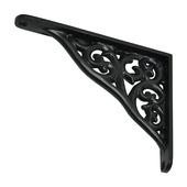 Duraline plankdrager Baroque mat zwart 15x19 cm