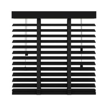 GAMMA horizontale jaloezie hout 50 mm 947 mat zwart 80x220