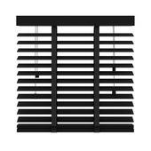 GAMMA horizontale jaloezie hout 50 mm 947 mat zwart 160x220