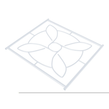 SecuBar Deco 1 Siertralie RAL 910 (Wit) 54x52,5 cm