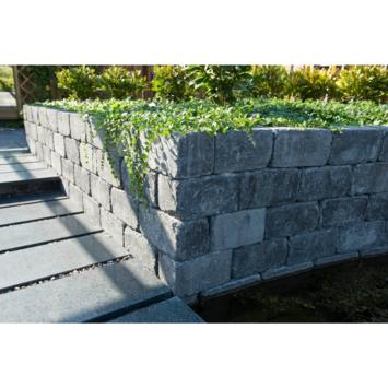 Stapelblok Beton Getrommeld Antraciet 30x15x15 cm