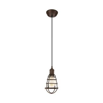EGLO hanglamp Portseton bruin
