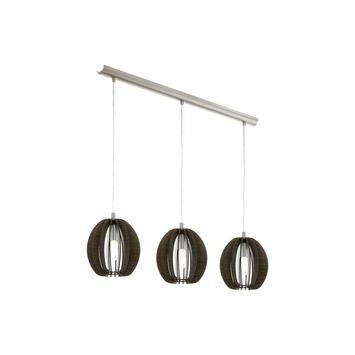 EGLO hanglamp Cassano donker bruin 3-lichts