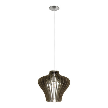 EGLO hanglamp Cossano 2 hout