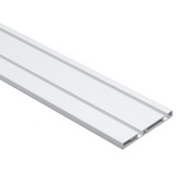 Essentials schuifdeurrail S10 kunststof aluminium 260 cm
