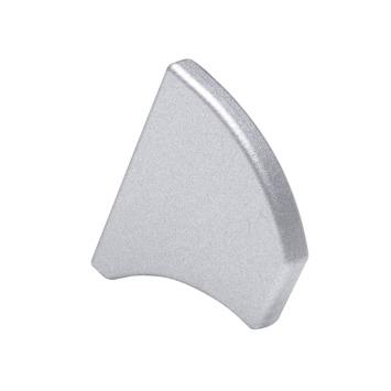 Essentials eindkapje deurgreep aluminium 2 stuks