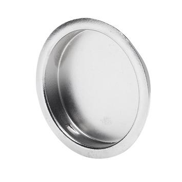 Essentials schuifdeurkom rond chroom 45 mm 2 stuks