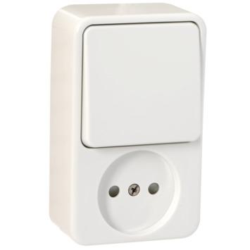 GAMMA Andes Stopcontact met Schakelaar Wit
