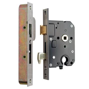 NEMEF veiligheidsslot SKG 2-sterren RVS voorplaat Doorn 50mm PC 55mm