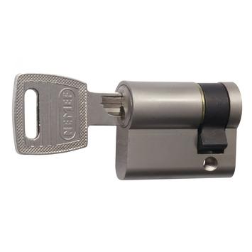 Nemef enkele veiligheidscilinder SKG** (1/2) nikkel