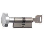 Nemef veiligheidsknopcilinder SKG** 116/9 (koper/nikkel) messing vernikkeld