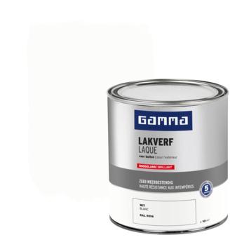 GAMMA buitenlak hoogglans 750 ml wit RAL 9016