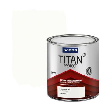 GAMMA TITAN Protect buitenlak zijdeglans 750 ml RAL 9010 gebroken wit