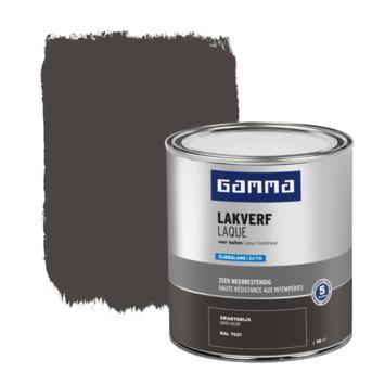 GAMMA buitenlak zijdeglans 750 ml zwartgrijs