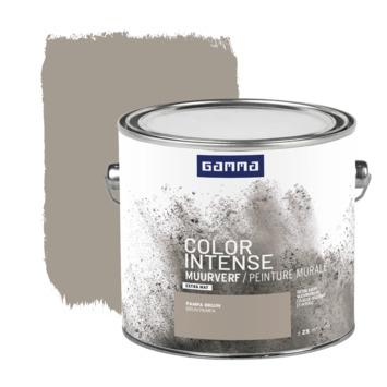 GAMMA Color intense muurverf extra mat 2,5 L pampa bruin