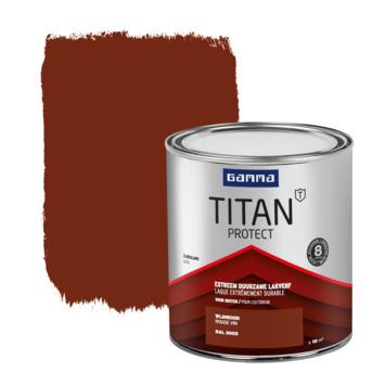 GAMMA Titan buitenlak zijdeglans 750 ml wijnrood