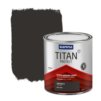 GAMMA Titan buitenlak hoogglans 750 ml zwartgrijs