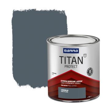 GAMMA Titan buitenlak zijdeglans 750 ml loodgrijs