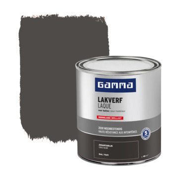 GAMMA buitenlak hoogglans 750 ml zwartgrijs