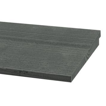 Zweeds rabatdeel Douglas grijs ca. 1,2/2,7x19 cm, lengte 240 cm
