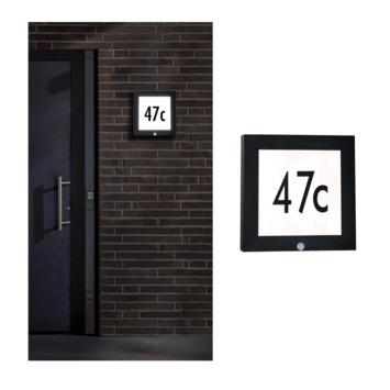 Paulmann buitenlamp huisnummer met bewegingssensor