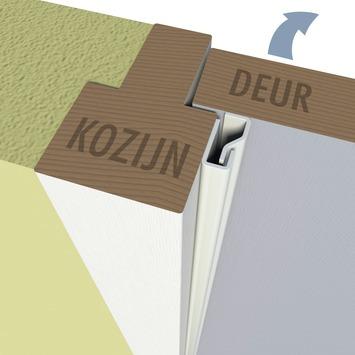 Secu anti-inbraakstrip type 2S binnendraaiend wit 205 cm