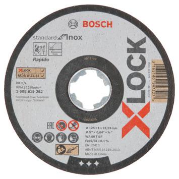 Bosch Prof X-Lock Doorslijpschijf 125mm 1mm 10-dlg