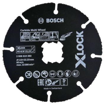 Bosch doorslijpschijf X-Lock Carbide Multi Wheel 115mm