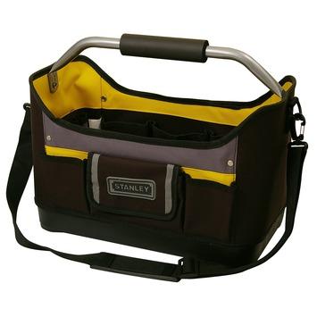 Stanley gereedschapstas open zwart met geel 16 inch
