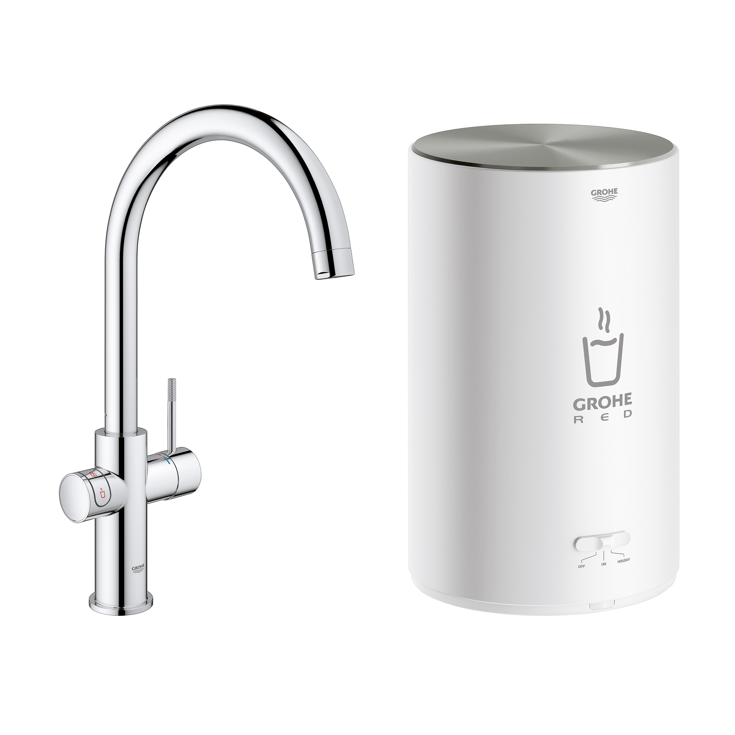 GROHE Red Duo Compact Kokendwaterkraan C-Uitloop Chroom