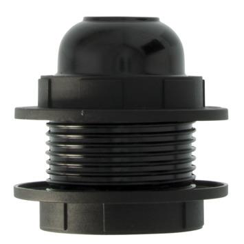 HANDSON lamphouder E27 zwart