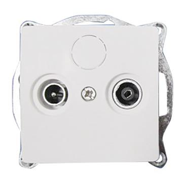 GAMMA Ventoux Stopcontact Coax Wit