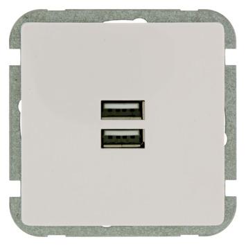 GAMMA Everest Stopcontact USB Wit
