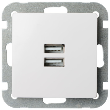 GAMMA Ventoux Stopcontact met USB Wit