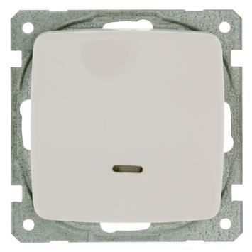 GAMMA K2 Wisselschakelaar met Indicatielamp Wit