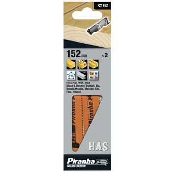 Piranha reciprozaagblad hout met spijkers/fijn/recht 152 mm 2 stuks X21192