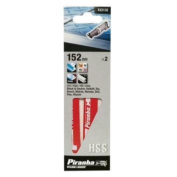 Piranha reciprozaagblad metaal/fijn/recht 152 mm 2 stuks X22132
