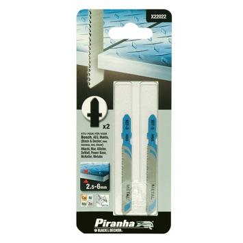 Piranha decoupeerzaagblad metaal/grof T-schacht 2,5 - 6 mm X22022