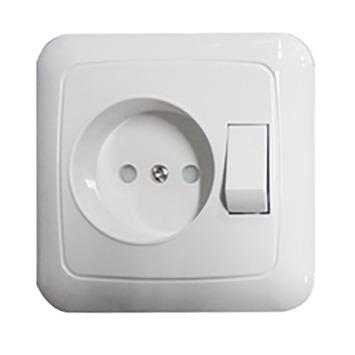 GAMMA K2 Stopcontact met Schakelaar Wit