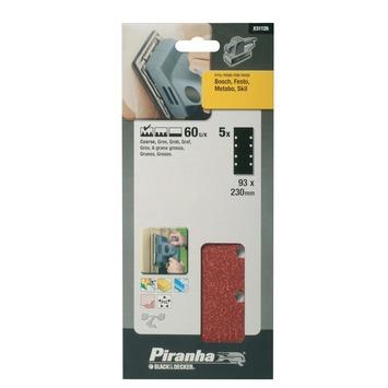 Piranha schuurstrook K60 230x93 mm 5 stuks X31126