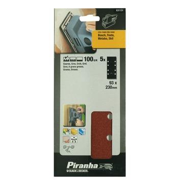 Piranha schuurstrook K100 230x93 mm X31131