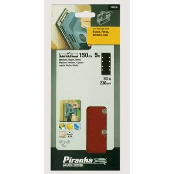 Piranha schuurstrook K150 230x93 mm 5 stuks X31136