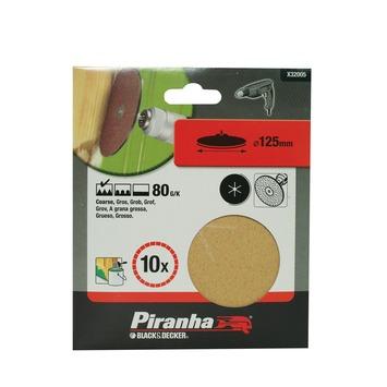 Piranha schuurschijf K80 125 mm 5 stuks X32005