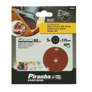 Piranha schuurschijf K80 125 mm 5 stuks X32032