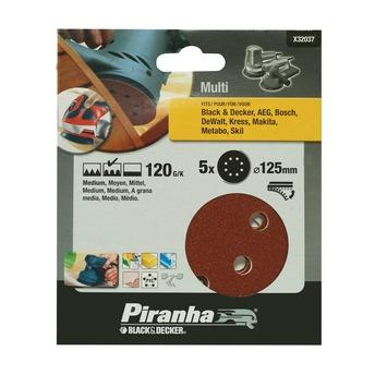 Piranha schuurschijf K120 125 mm 5 stuks X32037