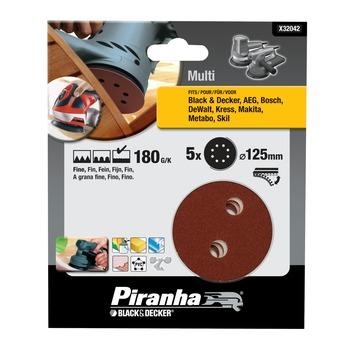 Piranha schuurschijf K180 125 mm 3 stuks X32042
