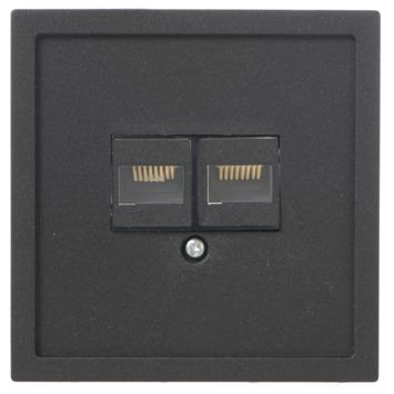 GAMMA Denali Stopcontact UTP Mat Zwart